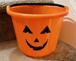Halloween Hard Plastic Pumpkin Candy Bucket Home Decoration Accent for Sale in Chapel Hill, NC