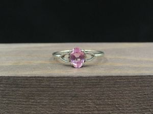 Size 7 10K Gold Hearts Pink Sapphire Band Ring Vintage Estate Wedding Engagement Anniversary Gift Idea Beautiful Elegant Unique Cute for Sale in Lynnwood, WA
