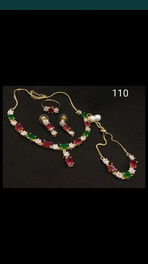 Artificial gold ruby emerald diamond set for Sale in Hawthorne, CA