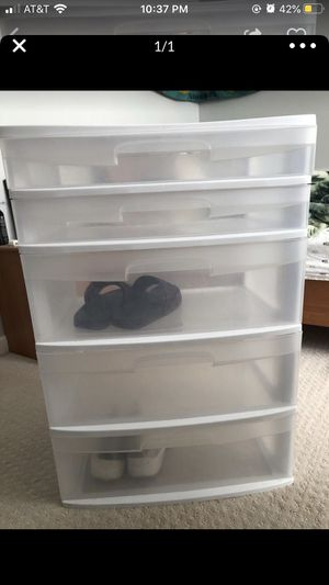 Plastic storage bin for Sale in Gaithersburg, MD