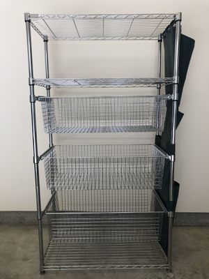 Front gate chrome shelf with 3 sliding drawers for Sale in Landenberg, PA