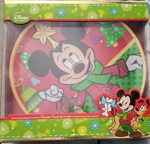 Disney Christmas Deck the halls Mickey & Minnie Mouse Melamine Plate Set of 4 for Sale in La Presa, CA