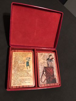 Articles & Laws in Playing at Golf 1744 Playing Cards w/ Golf Theme Leather Case for Sale in San Angelo,  TX