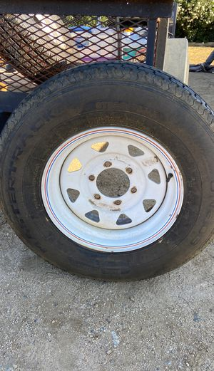 Trailer rim and tire 6 on 5.5 for Sale in Temecula, CA