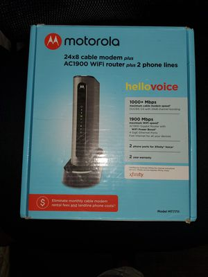 Motorola cable modem + router for Sale in Los Angeles, CA