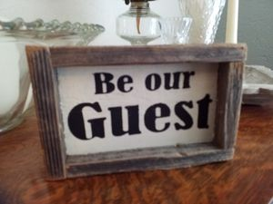 Rustic farmhouse BD OUR GUEST sign for Sale in Medford, OR