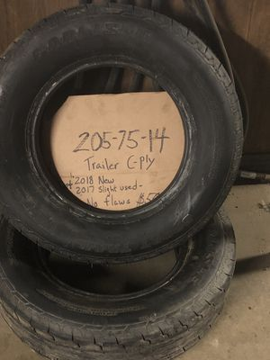 205 75 14 trailer tires for Sale in Brook Park, OH