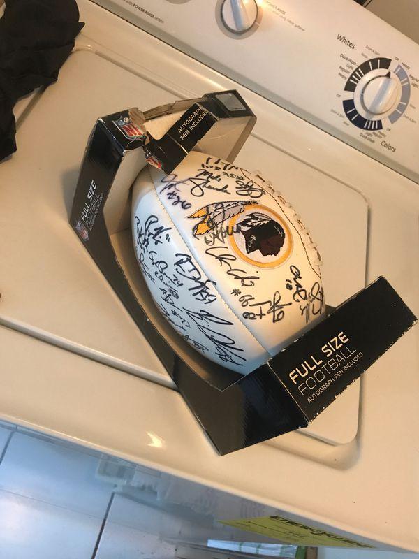 Autographed Football And Helmet