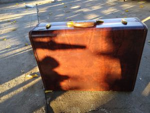 Vintage Samsonite Hardshell Brown Suitcase Luggage for Sale in North Highlands, CA