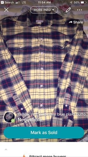 Plaid shirt for Sale in Springfield, VA