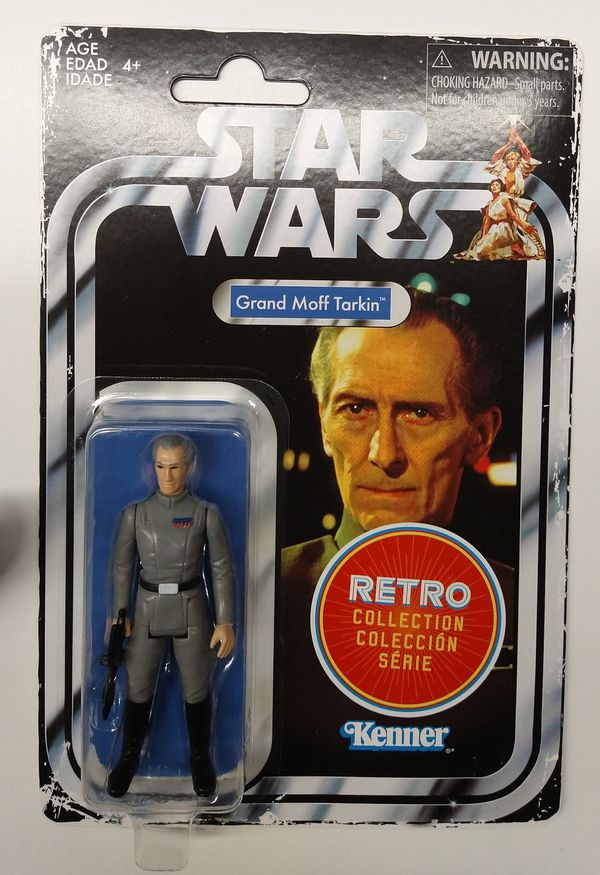 New Star Wars Retro Collection Grand Moff Tarkin Action Figure. (80's vintage style)