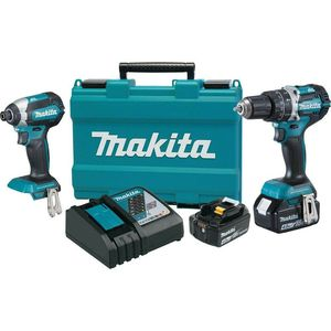 Makita 18-Volt LXT Lithium-Ion Brushless Cordless Hammer Drill and Impact Driver Combo Kit (2-Tool) w/ (2) 4Ah Batteries, Case for Sale in Goodyear, AZ