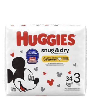 Disney Huggies Snug & Dry size 3 for Sale in Westlake, OH