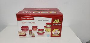 Rubbermaid 28pc Plastic Food Storage Container Set for Sale in Dallas, TX
