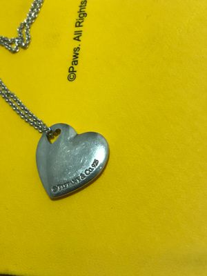 Tiffany heart charm necklace for Sale in Salt Lake City, UT