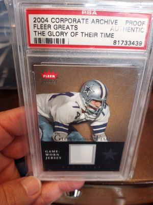 Mr Cowboy Bob Lilly Autograph and jersey card for Sale in El Paso, TX