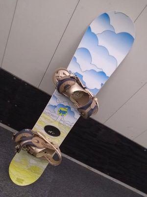 Rare Jeenyus Women's Snowboard + boots (Vans), bindings (Burton), + bag (Demon) for Sale in New York, NY