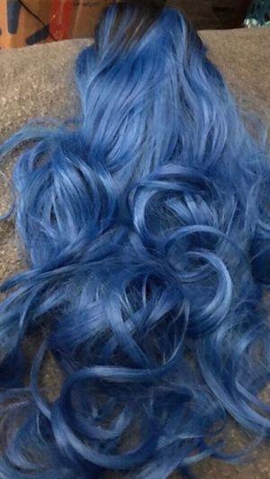 Nice blue curly long Halloween 🎃 wig 🎃 for Sale in San Bernardino, CA