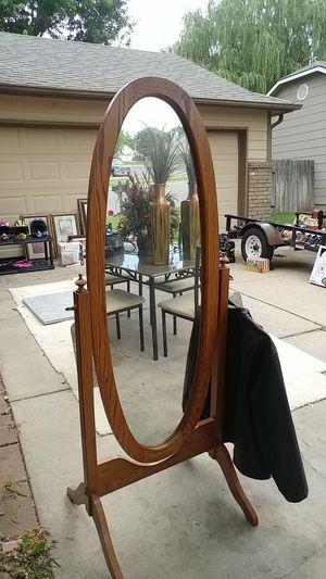 Solid oak full size mirror for Sale in Derby, KS
