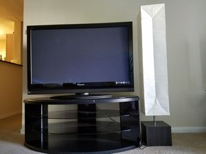 Panasonic 50 inch with TV stand and Lamp for Sale in Glen Allen, VA