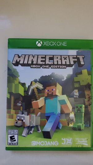 Minecraft for xbox one (accept $15-$20) for Sale in Miami, FL