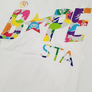 BAPE Milo ABC Multi Bapesta White Tee for Sale in Chicago, IL