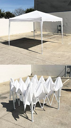 New $80 White color 10x10 ft EZ Pop Up Canopy Outdoor Sun Shade, Carrying Bag for Sale in South El Monte, CA