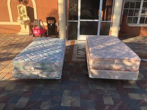 2 twin size bed with mattress frame and box for $140 for Sale in Fort Myers, FL