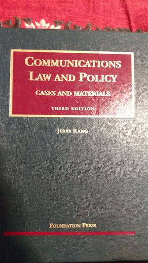 Communications law & policy Book for Sale in Chicago, IL