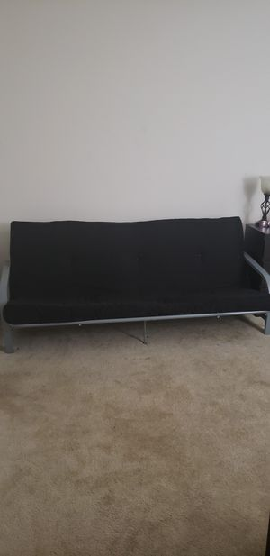 Black and silver futon for Sale in Fairfax, VA