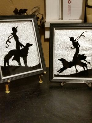 Circa 1940s art deco silhouette Dog Pictures Borzoi Afghan for Sale in Los Angeles, CA