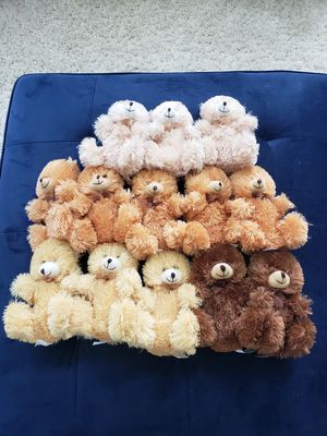 13 new stuffed animal bears! for Sale in Laurel, MD