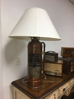 "Antique fire extinguisher lamp conversion, unique, ""The Colombia"" for Sale in Manalapan Township, NJ"
