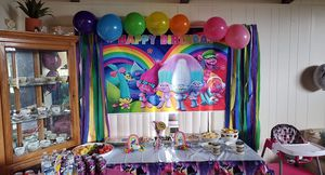 Free -Trolls Birthday Party Decorations for Sale in Eugene, OR
