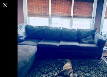 Brown Microfiber Sleeper Sectional for Sale in Bensalem,  PA