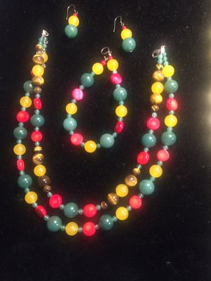 Stone And Glass Beads Jewelry Set for Sale in Dallas, TX