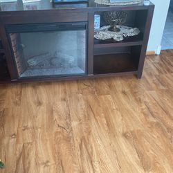 Sofás And Tv Stand With Electric Fireplace Included Good Conditions for Sale in Magna,  UT