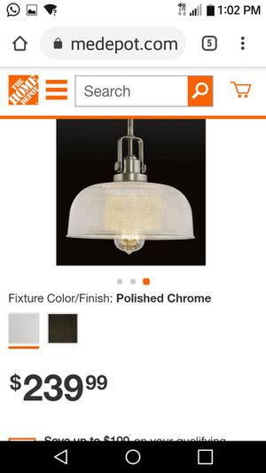 Brand newArchie Collection 2-Light Polished Chrome Chandelier with Clear Prismatic Glass for Sale in Fairfax, VA