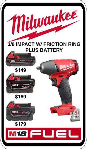 BRAND NEW - Milwaukee M18 3/8 Impact w/ Friction Ring - ADD a Battery - We accept trades & Credit Cards - AzBE Deals for Sale in Peoria, AZ