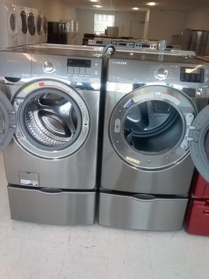 Samsung pedestal washer and dryer used good condition 90days warranty for Sale in Mount Rainier, MD