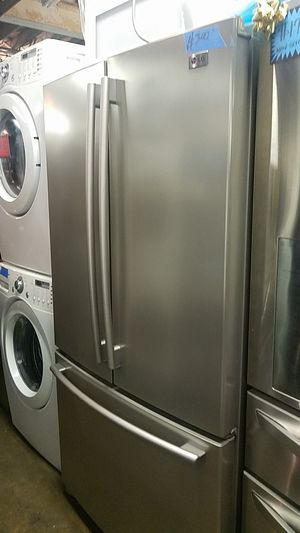 Lg French doors refrigerator excellent condition for Sale in Baltimore, MD