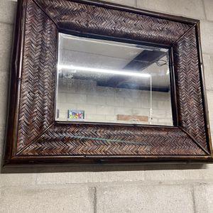 Wicker Style Square Accent Mirror for Sale in Daytona Beach, FL