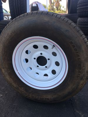 14x6 wheels for trailer and tires 205-75-14 Carlisle for Sale in Riverside, CA