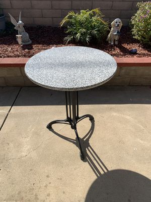 "Granite Coffe Table 24"" Round x 29 High Heavy Duty Iron Stand for Sale in Guadalupe, CA"