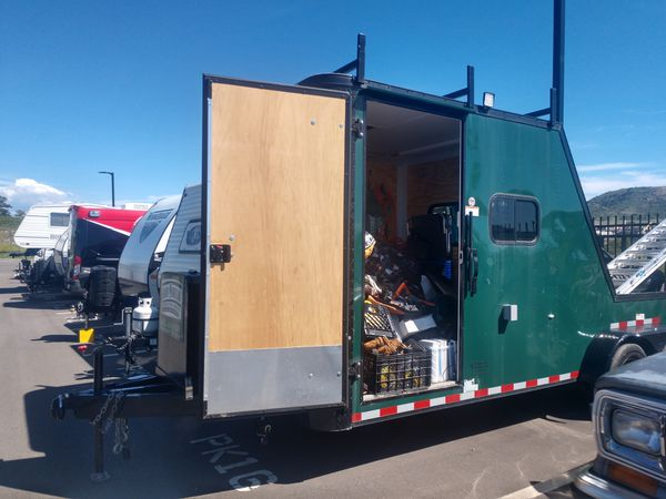 2018 toy hauler hunting trailer