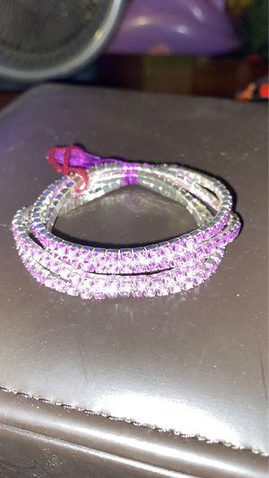 4 purple bracelets 2 light purple 2 dark purple for Sale in St. Louis, MO