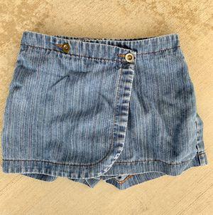 Girls medium wash pinstriped Skort for Sale in Palmdale, CA