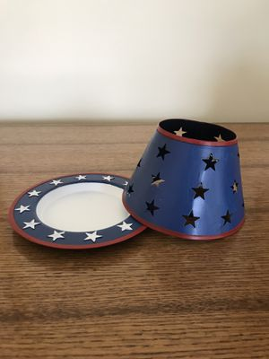 Shades, plate, holder fit 14.5 oz candle jars for Sale in Dayton, MD