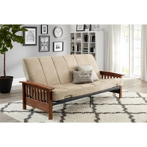 "Home & gardens neo mission wood arm futon with 6""mattress. for Sale in Dallas, TX"