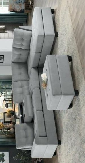 Maston gray sectional with ottoman for Sale in Houston, TX
